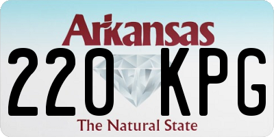 AR license plate 220KPG