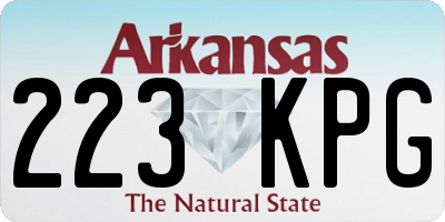 AR license plate 223KPG