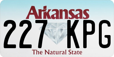 AR license plate 227KPG