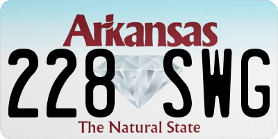 AR license plate 228SWG
