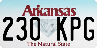 AR license plate 230KPG