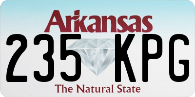AR license plate 235KPG