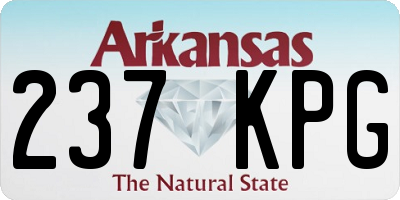 AR license plate 237KPG