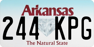 AR license plate 244KPG