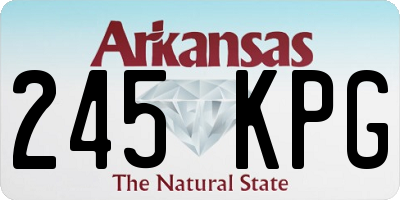 AR license plate 245KPG