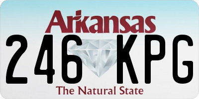 AR license plate 246KPG