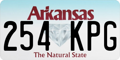 AR license plate 254KPG