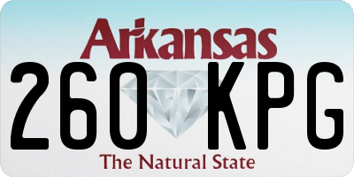 AR license plate 260KPG