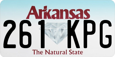 AR license plate 261KPG