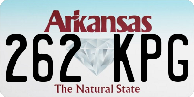 AR license plate 262KPG