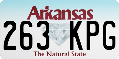 AR license plate 263KPG