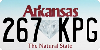 AR license plate 267KPG