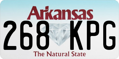 AR license plate 268KPG