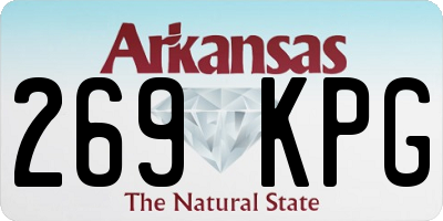 AR license plate 269KPG