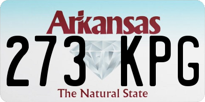 AR license plate 273KPG