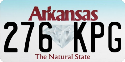 AR license plate 276KPG