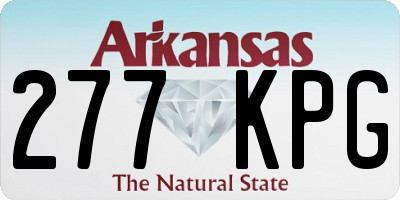AR license plate 277KPG