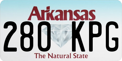 AR license plate 280KPG