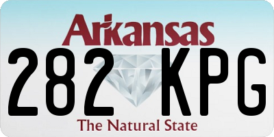 AR license plate 282KPG