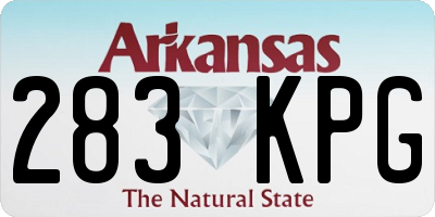 AR license plate 283KPG