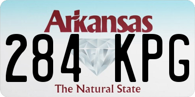 AR license plate 284KPG
