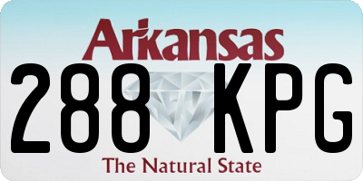 AR license plate 288KPG