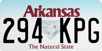 AR license plate 294KPG