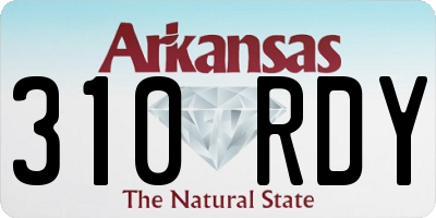 AR license plate 310RDY