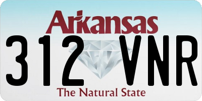 AR license plate 312VNR