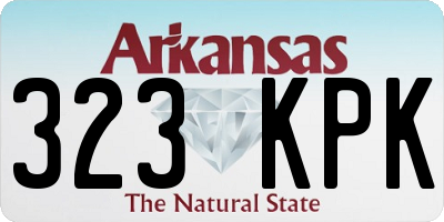 AR license plate 323KPK
