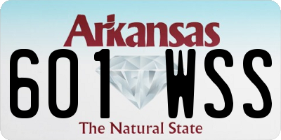 AR license plate 601WSS