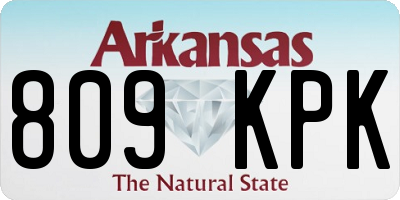 AR license plate 809KPK
