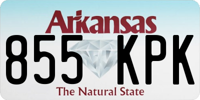 AR license plate 855KPK