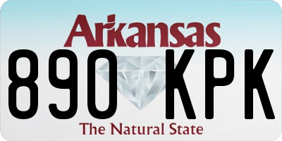 AR license plate 890KPK