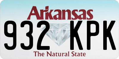 AR license plate 932KPK