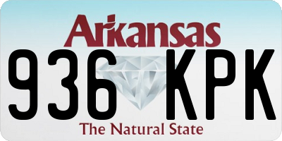 AR license plate 936KPK