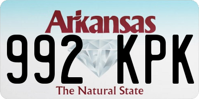 AR license plate 992KPK