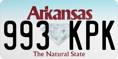 AR license plate 993KPK