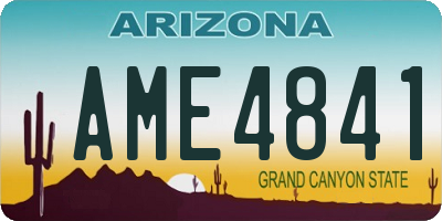 AZ license plate AME4841