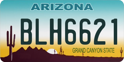 AZ license plate BLH6621
