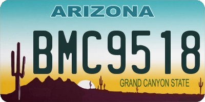 AZ license plate BMC9518