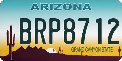 AZ license plate BRP8712