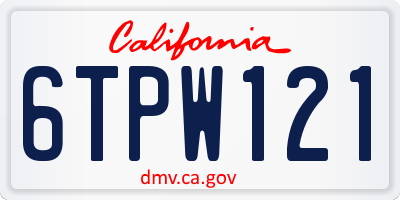 CA license plate 6TPW121
