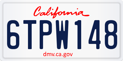 CA license plate 6TPW148