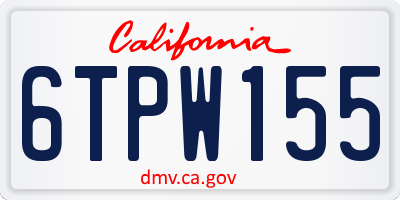 CA license plate 6TPW155