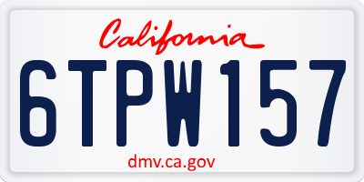CA license plate 6TPW157