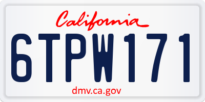 CA license plate 6TPW171
