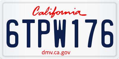 CA license plate 6TPW176