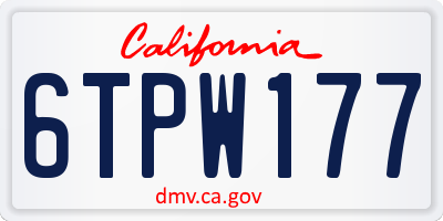 CA license plate 6TPW177