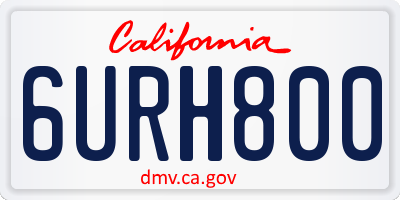 CA license plate 6URH800